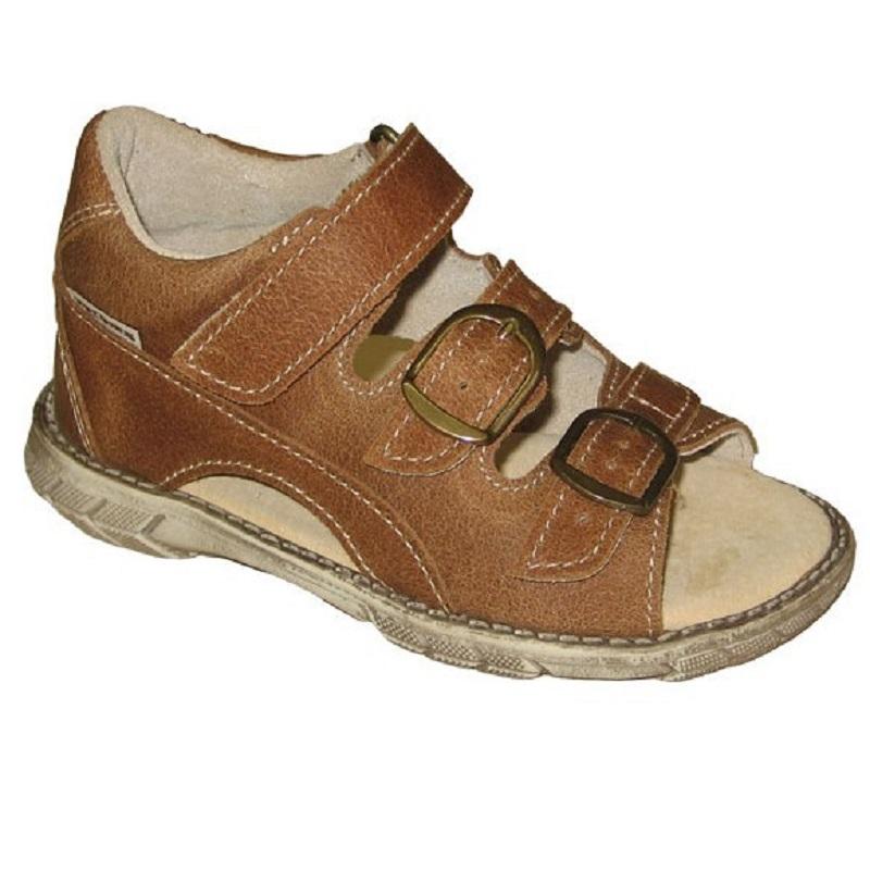 Pegres Dětské kožené sandálky - letní boty d95d0ca64e
