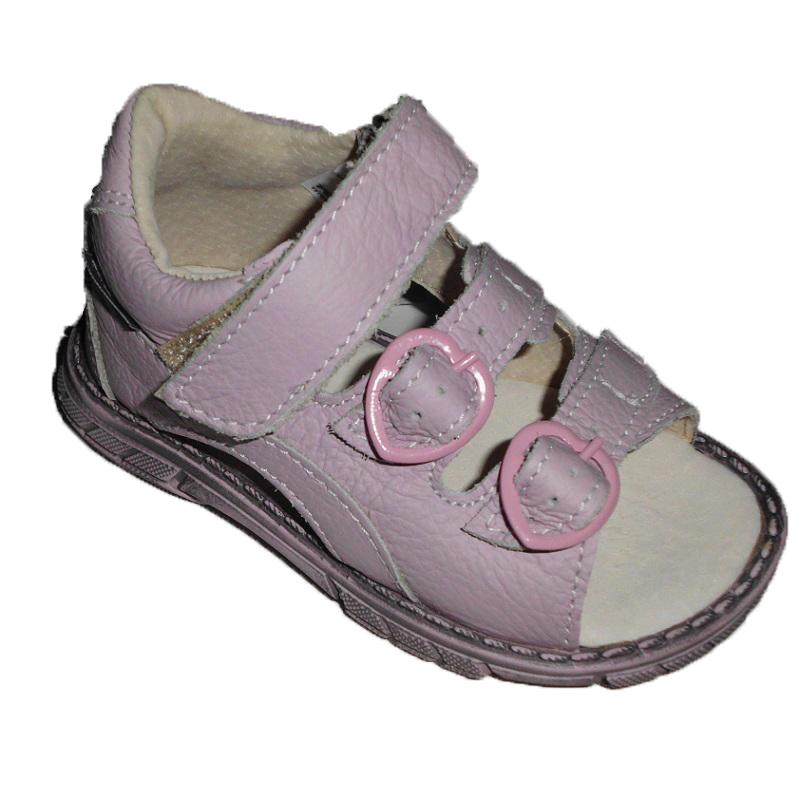 Pegres Dětské kožené sandálky - letní boty  d8258a1f0d