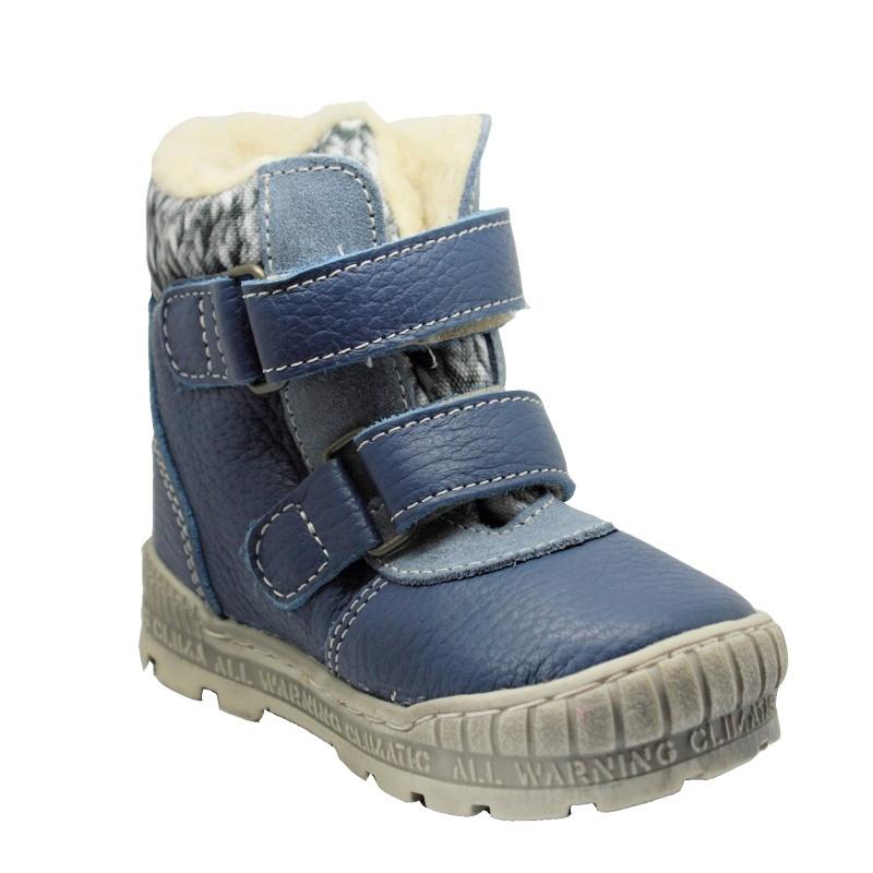 Pegres Dětské zimní boty modré na suchý zip  9b1548f290
